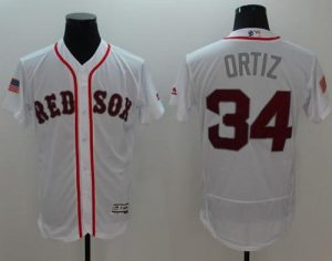 Red Sox #34 David Ortiz White Fashion Stars & Stripes Flexbase Authentic Stitched MLB Jersey